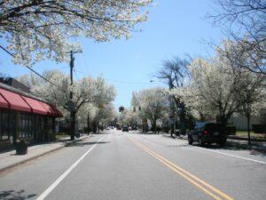 West Shore Road in Conimicut Village